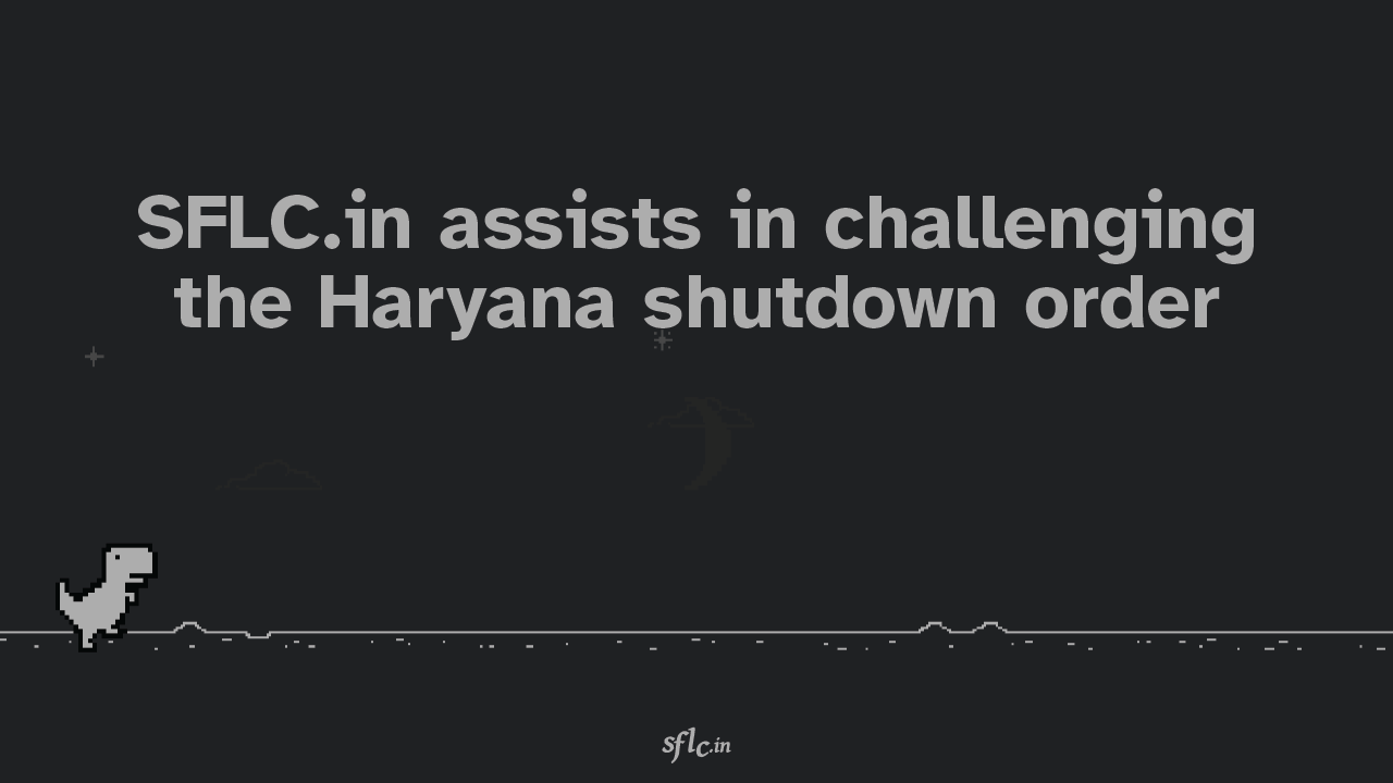 SFLC.in assits in challenging the haryana shutdowns order