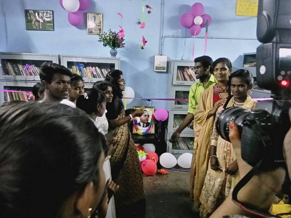 Inauguration of Library at Ambedkar Community Computing Center (AC3)