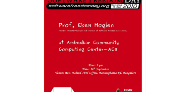 Prof. Eben Moglen, Director-Counsel and Chairman of Software Freedom Law Center visiting AC3 on 16th September 2010
