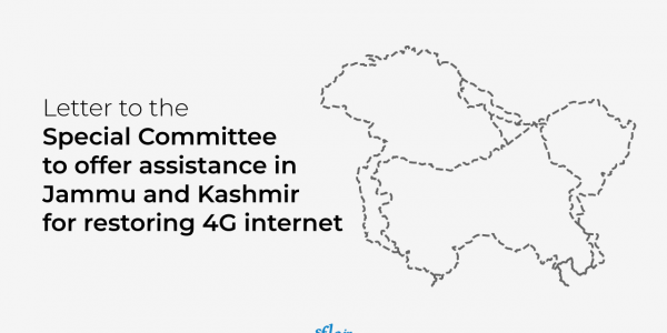 Letter to the special committe to offer assistance in Jammu and Kashmir for restoring 4G Internet Services