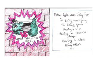 ROTTEN APPLE SUES JUICY PEAR