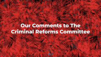 Our comments to the criminal reforms committee
