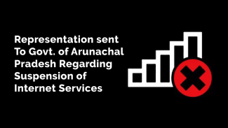 Representation to Govt. of Arunachal Pradesh